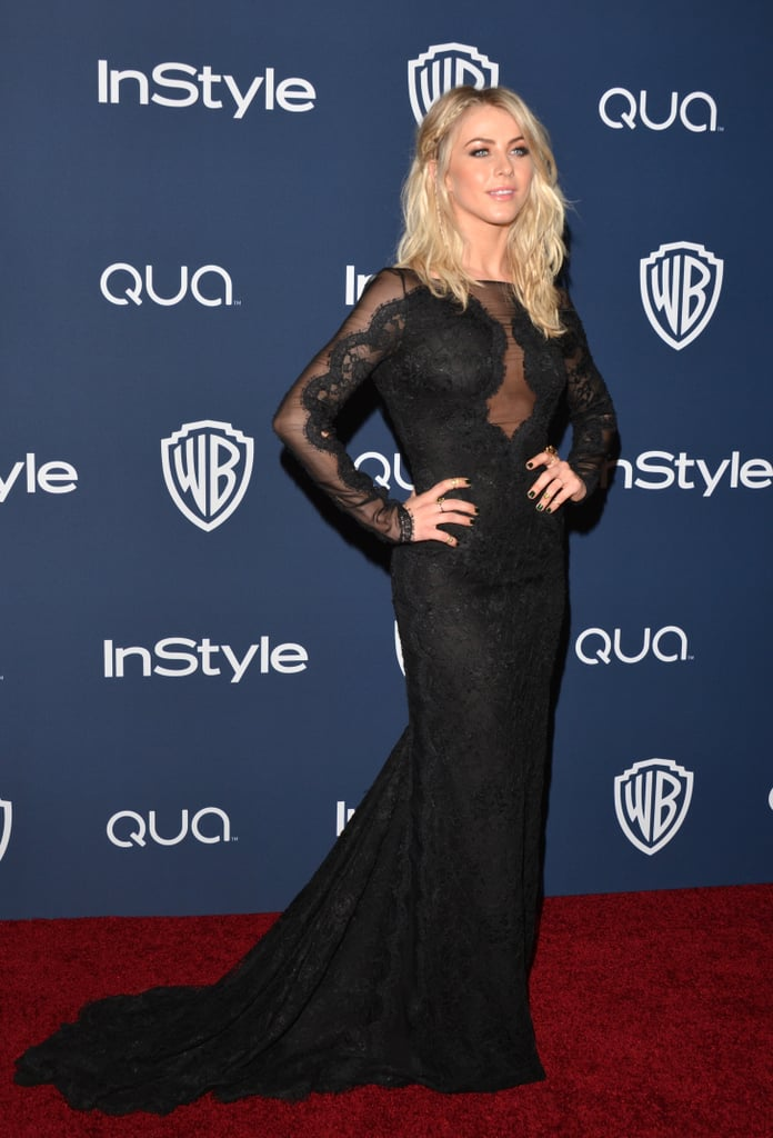 Julianne Hough showed off a vampy look as she hit the red carpet for the Warner Bros. party.