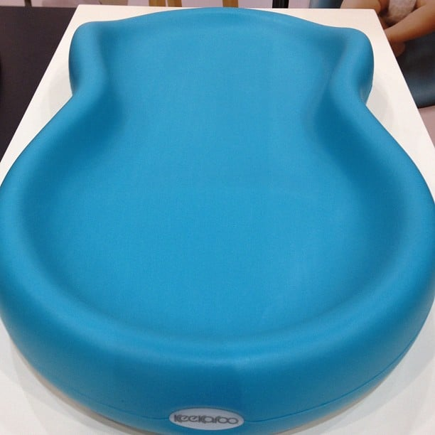 The Keekaroo Peanut is one of the softest changing tables ever. Made from material used to create toys and goods for special-needs children, it's easy to clean too.