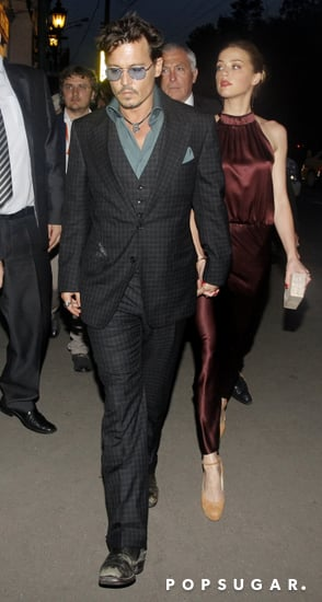 Johnny Depp and Amber Heard Reunite For PDA in Moscow