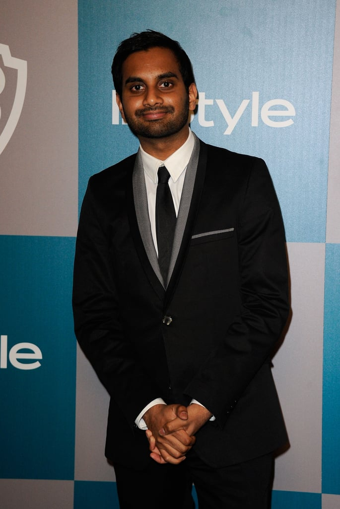 Aziz Ansari hit the red carpet for InStyle's Golden Globes afterparty.