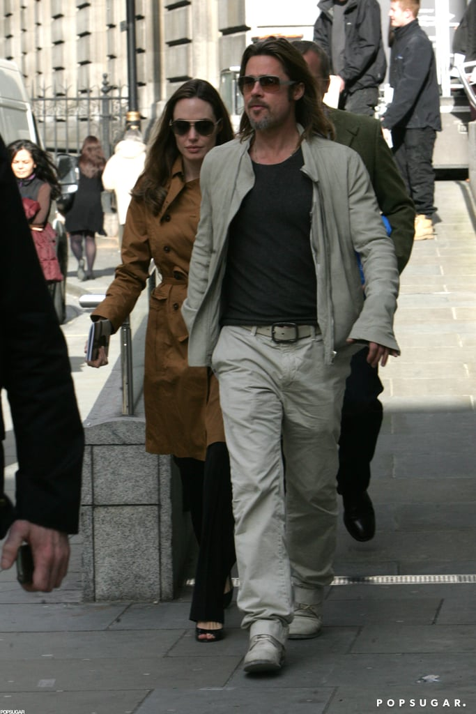 Brad Pitt and Angelina Jolie went to the National Portrait Gallery in London during May.