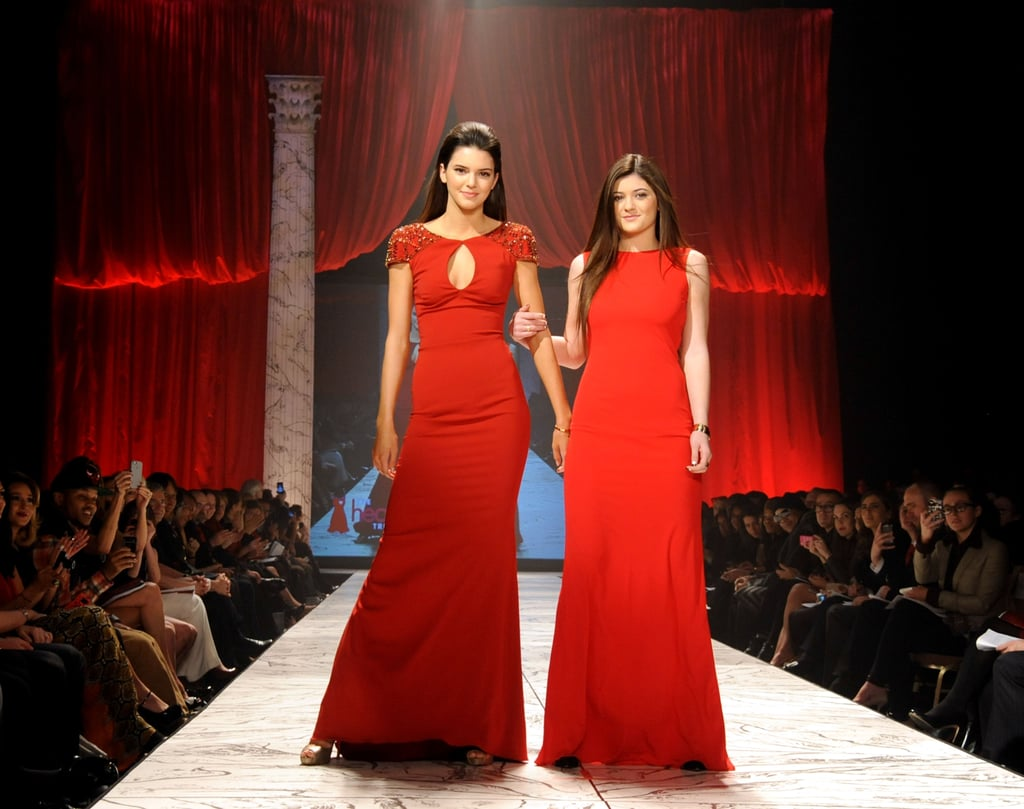 Kendall and Kylie Jenner gave their older sisters Kourtney, Kim and Khloe a run for their money when they donned sexy red dresses for The Heart Truth Fashion Show in New York on February 6.