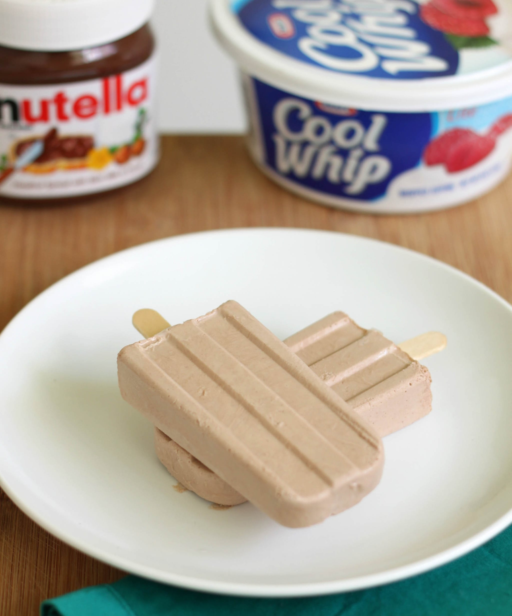 Creamy Nutella Popsicles