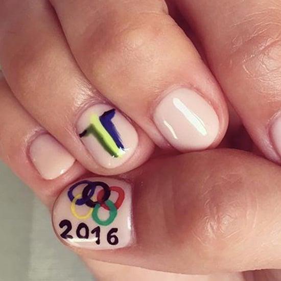 Camilla Belle's Rio Olympics Nail Art