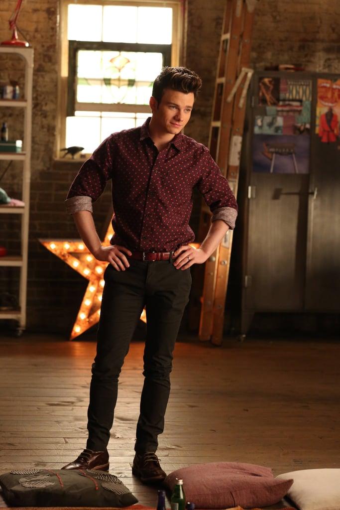 Kurt (Chris Colfer) on the season finale of Glee.