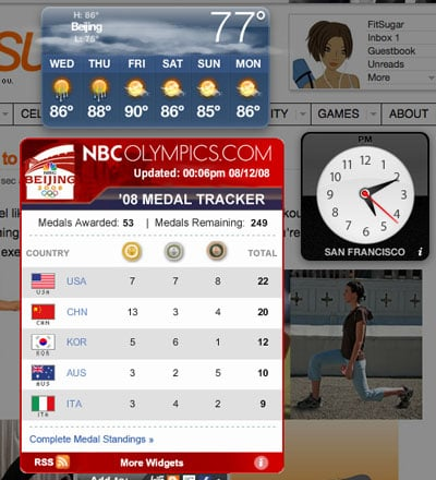 Olympic Widgets Galore