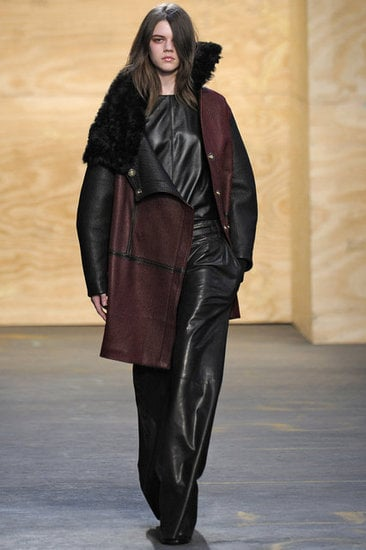 A cool asymmetric leather coat from Proenza Schouler.