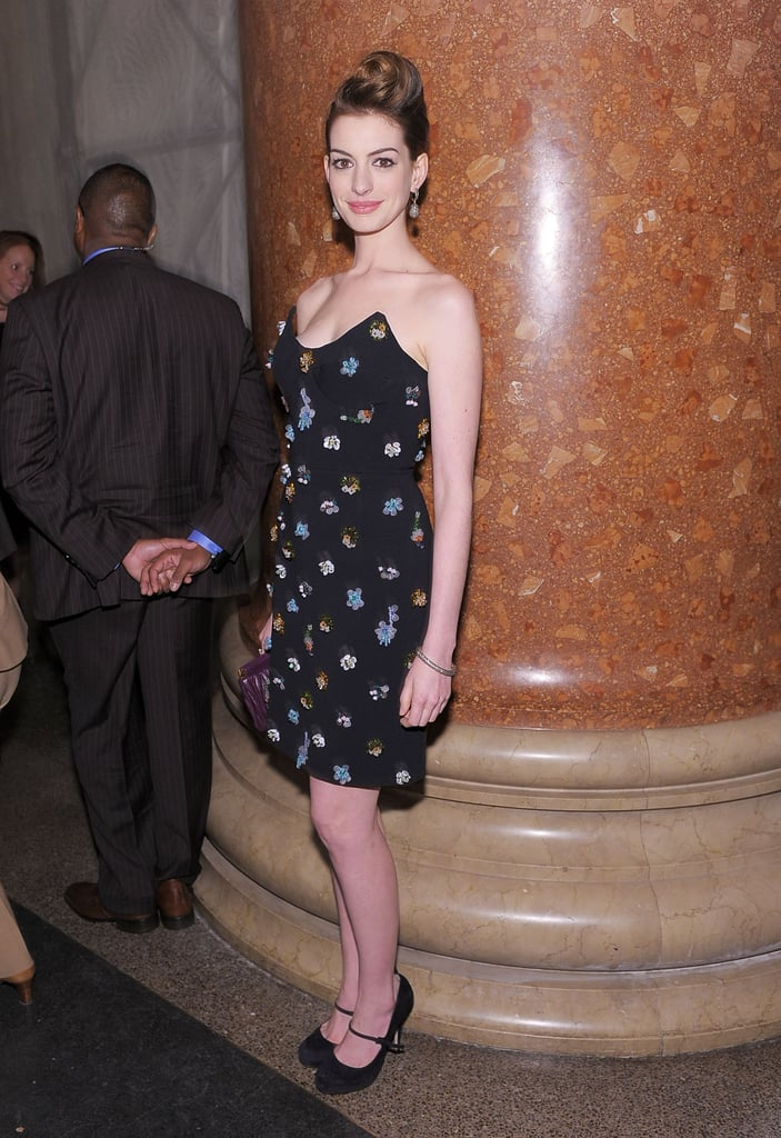 Anne Hathaway and Tina Fey at Museum Gala