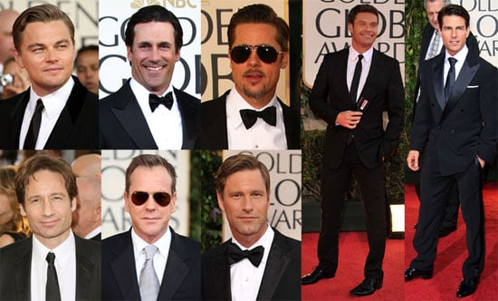 Photos of Men At 2009 Golden Globe Awards Including Brad Pitt, Leonardo DiCaprio, Tom Cruise, Ryan Seacrest and Others