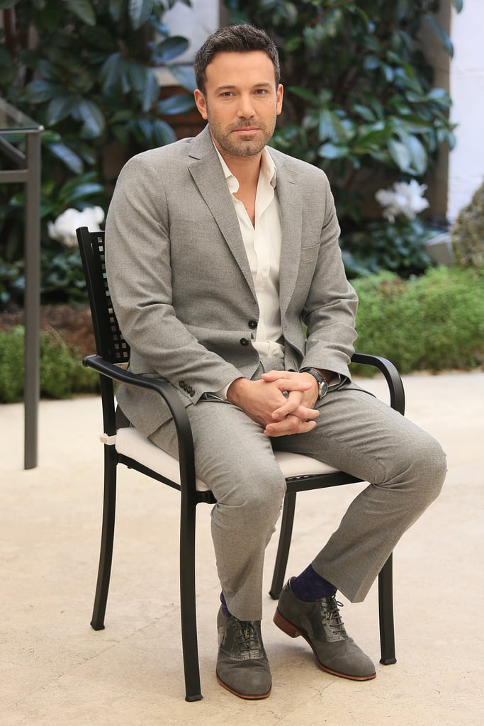 Ben Affleck was in Rome to promoted his new film Argo.