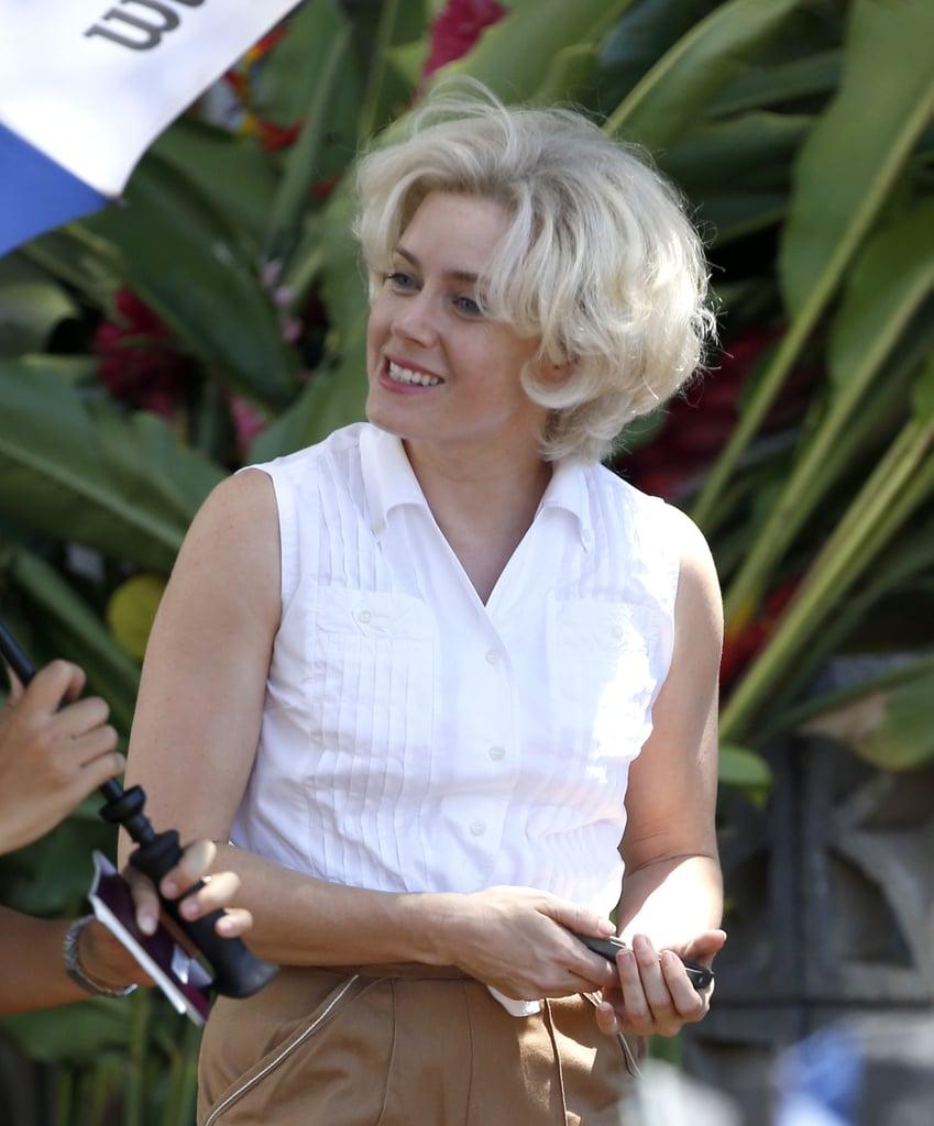 Amy Adams headed to Hawaii for Tim Burton's Big Eyes on Thursday.
