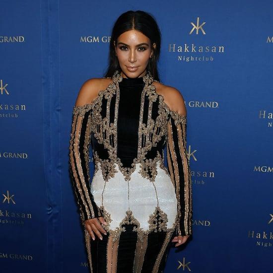 Kim Kardashian's Balmain Dress in Vegas April 2016