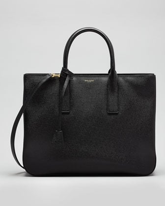 Saint Laurent Museum Borsa Tote Bag, Black