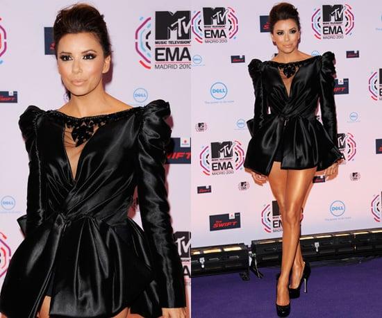 Photos of Eva Longoria Parker at the 2010 MTV EMAs in Madrid