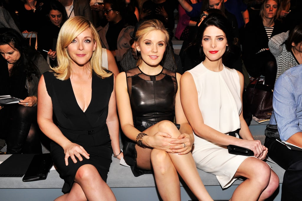 Jane Krakowski, Maggie Grace, and Ashley Greene shared the front row at KaufmanFranco in NYC in February.