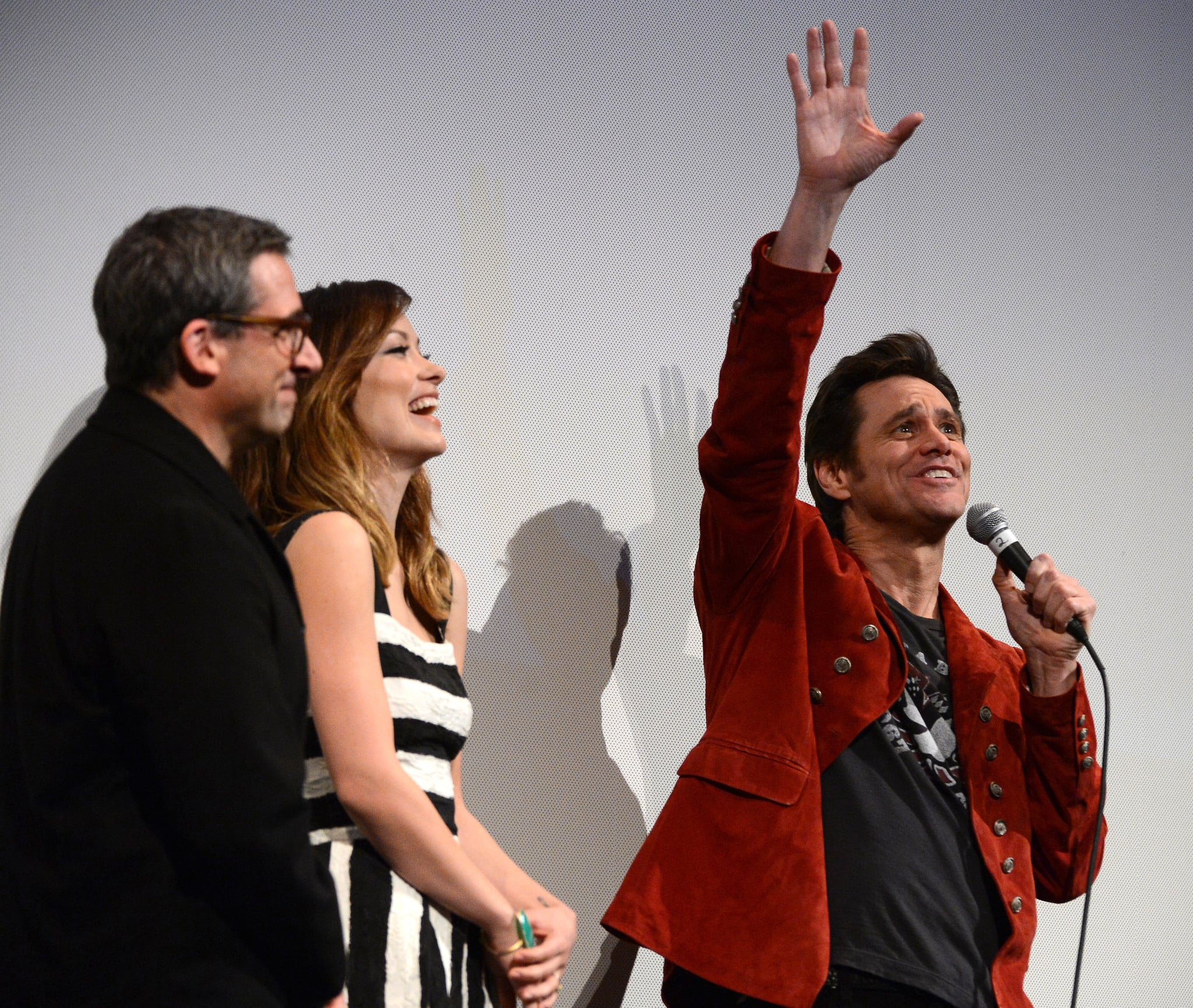 Olivia Wilde Celebrates Burt Wonderstone With Steve Carell and Jim Carrey at SXSW