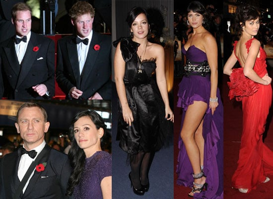 Photos of Daniel Craig, Prince William, Prince Harry, Gemma Arterton, Olga Kurylenko, Lily Allen at Quantum of Solace Premiere