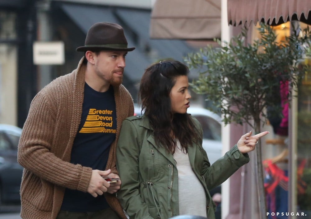 Channing Tatum and Jenna Dewan headed to a movie in London.