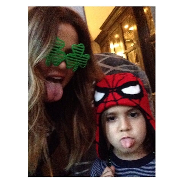 Khloé Kardashian had St. Patrick's Day fun with Mason Disick. Source: Instagram user khloekardashian