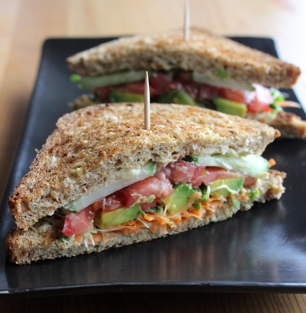 Veggie Sandwich With Turkey