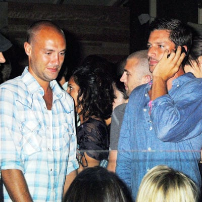 Calum Best and Simon Rex Partying at Apple in LA