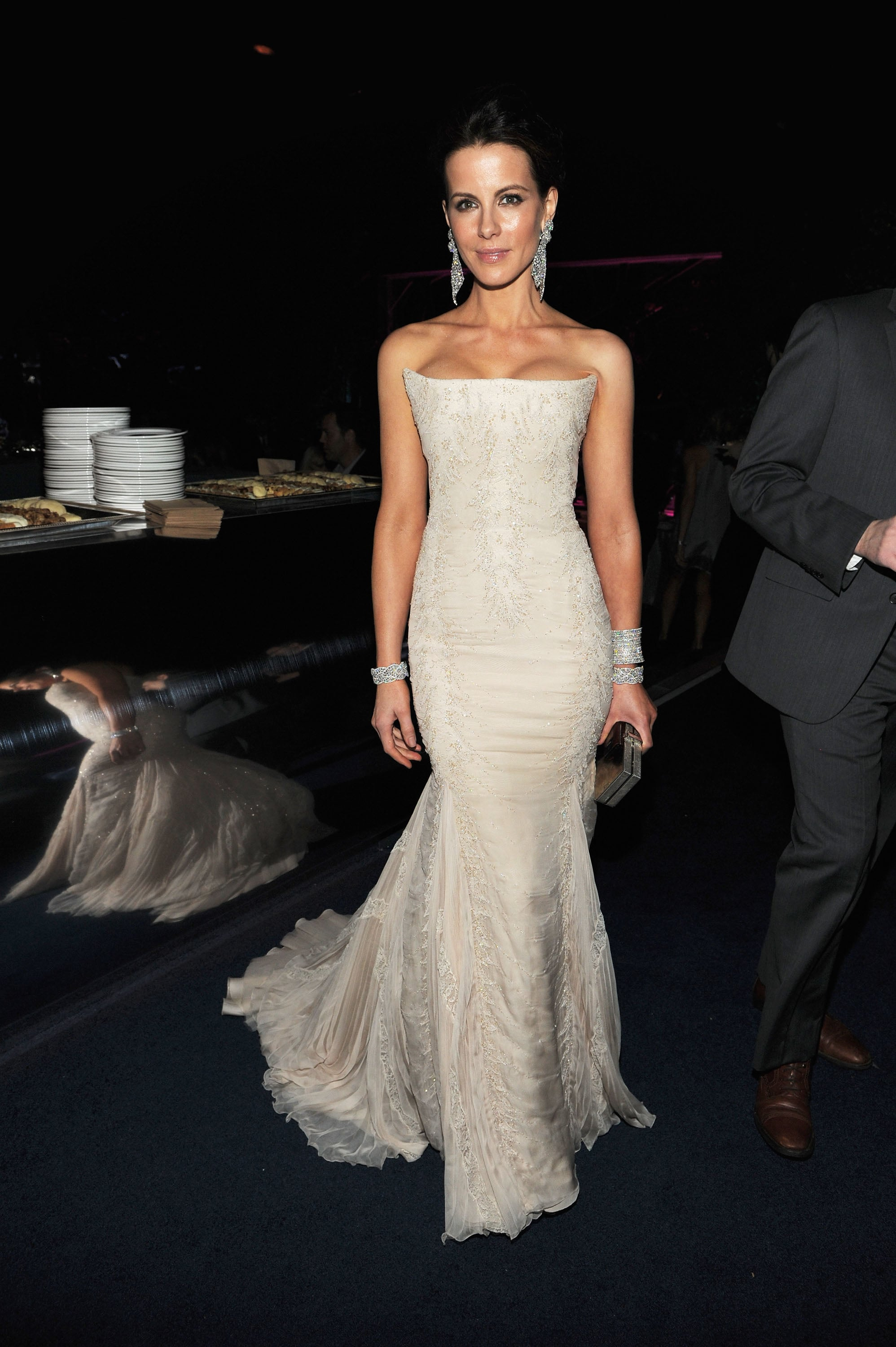 Kate Beckinsale showed off her figure at a Golden Globes party in January 2012.