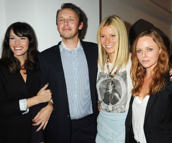 Slide Photo of Liv Tyler, Alasdhair Willis, Gwyneth Paltrow and Stella McCartney at Established and Sons Party During LFW