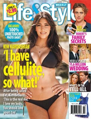 Kim Kardashian Shows Off Her Bikini Body For the Cover of Life & Style