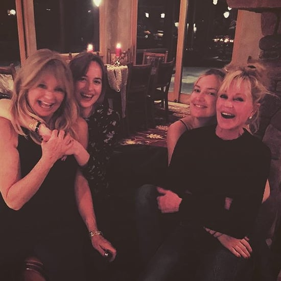 Kate Hudson and Dakota Johnson in Aspen December 2015