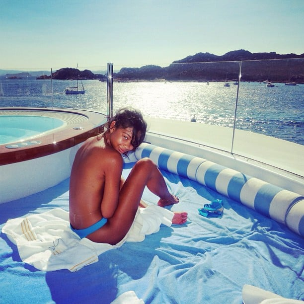 Model Chanel Iman did her best to avoid tan lines. Source: Instagram user chanelimanxoxo