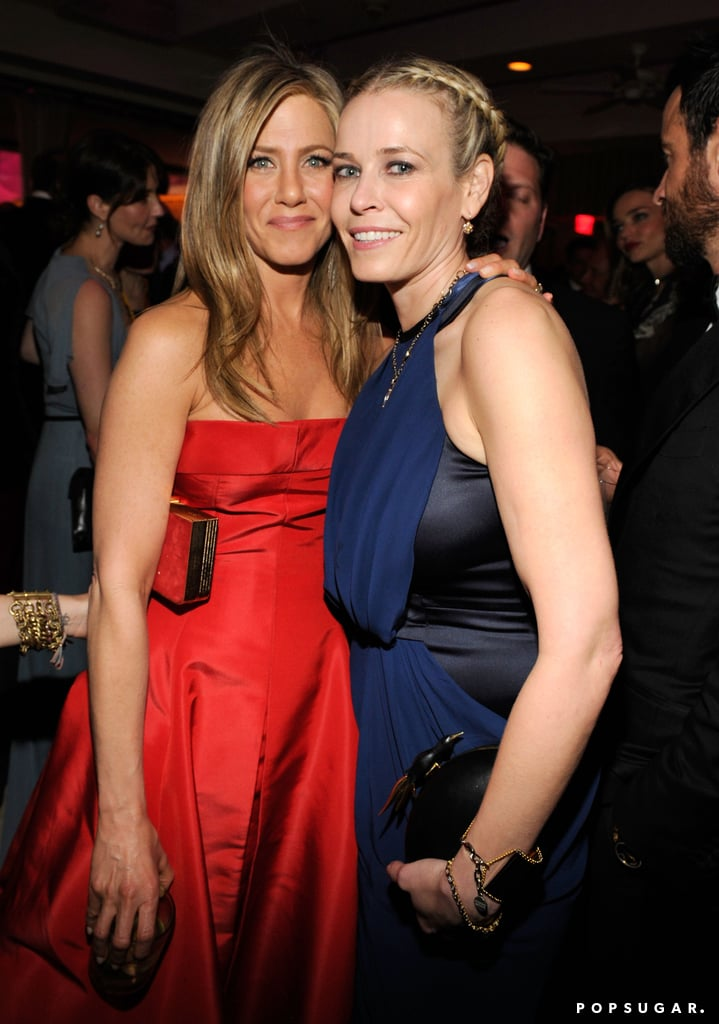 Jennifer Aniston met up with her pal Chelsea Handler.