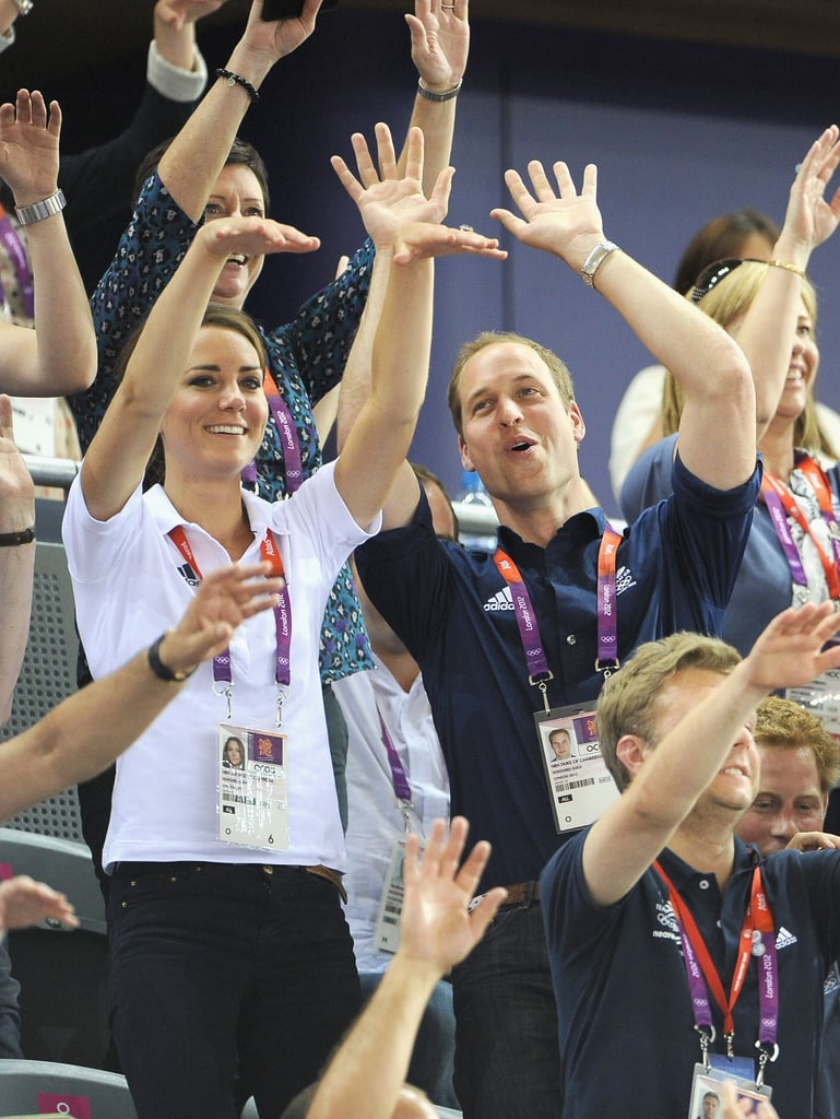 Kate Middleton and Prince William got goofy in the stands.