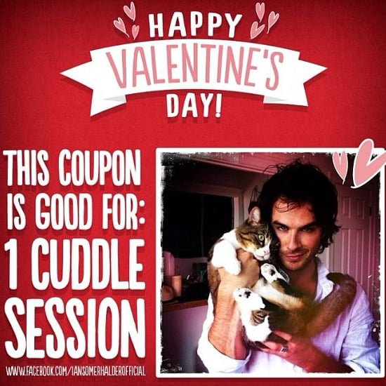 Ian Somerhalder Tweets Free Cuddles For Valentine's (Video)