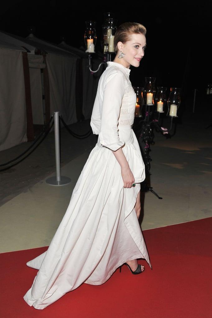 Evan Rachel Wood at the Venice Film Festival opening night dinner.