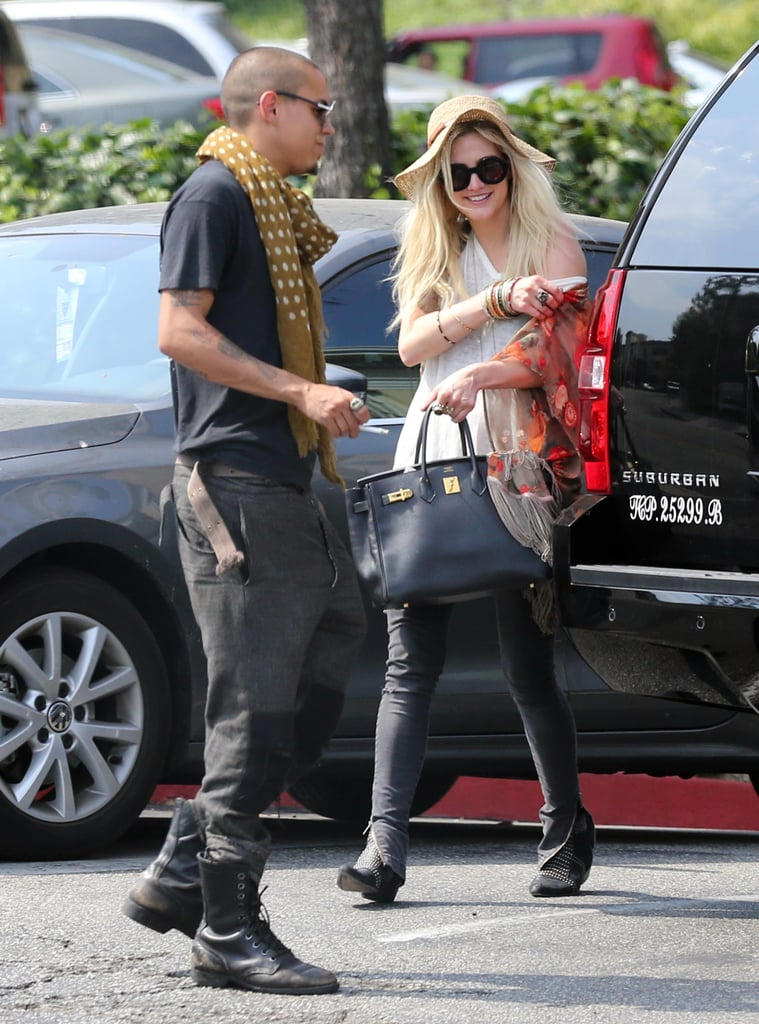 Ashlee Simpson stepped out with Evan Ross.