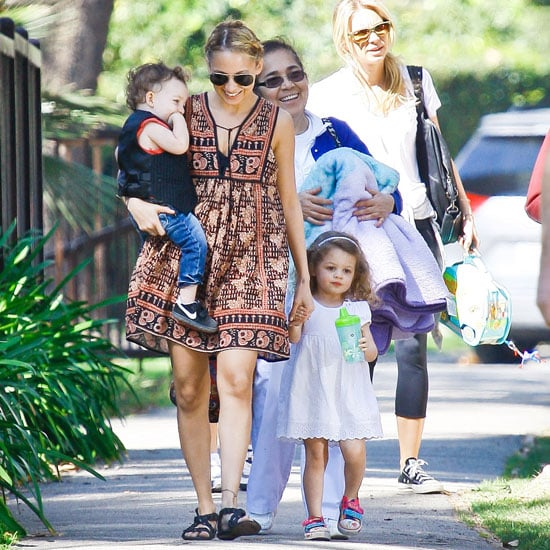 Pictures of Nicole Richie at the Park With Harlow and Sparrow Madden in LA