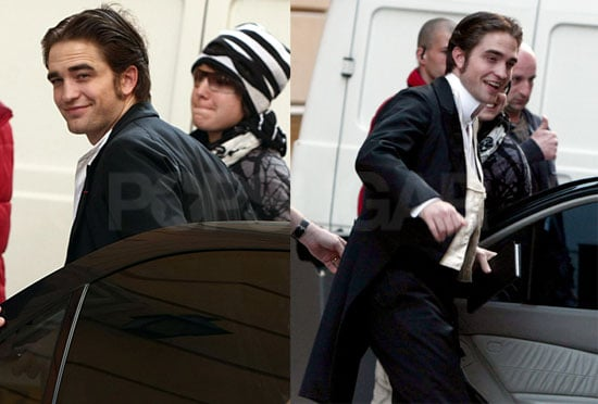 Pictures of Robert Pattinson, Uma Thurman, And Christina Ricci Filming Bel Ami in Budapest