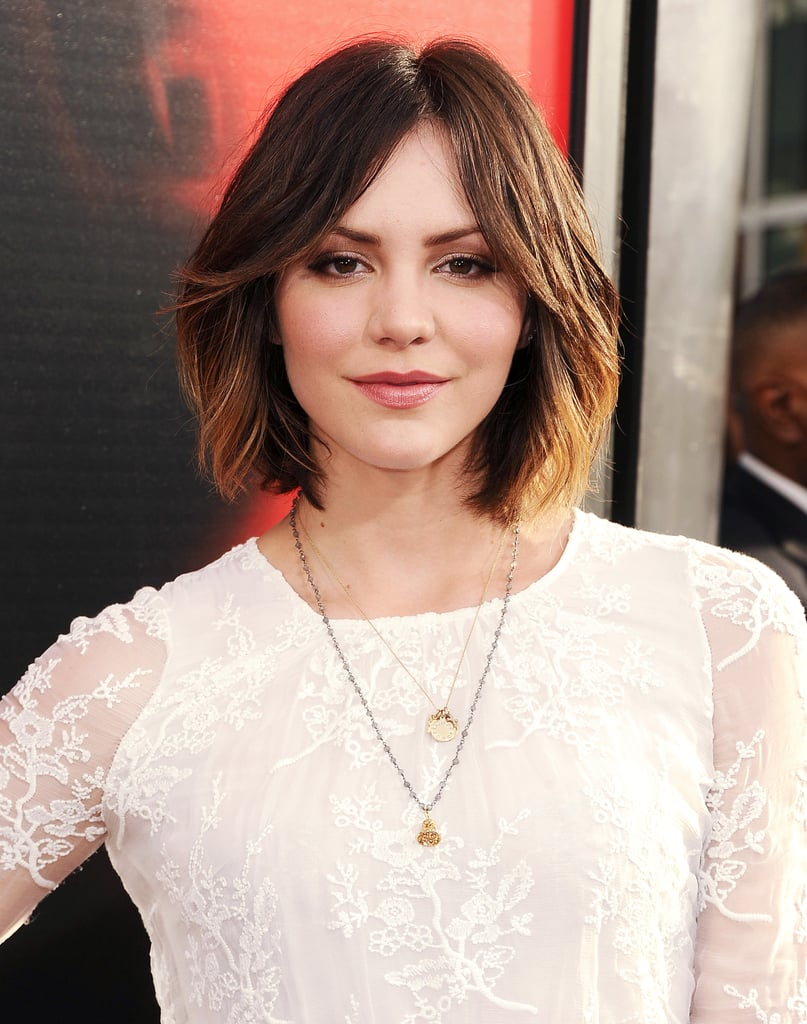 Katharine McPhee stepped out for the True Blood premiere wearing her lob perfectly blown-out for the occasion.