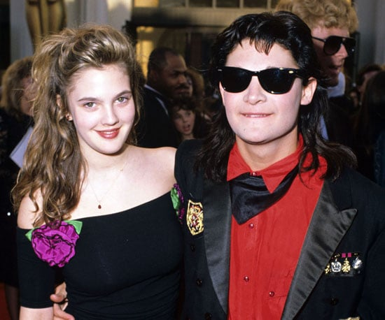 Drew Barrymore and Corey Feldman, 1989