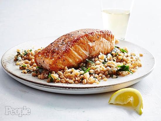 Quick Weeknight Dinner: Hugh Acheson's Seared Salmon with Parsley Farro