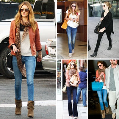 In Love With . . .  Rosie Huntington-Whiteley's Slouchy Suede Booties