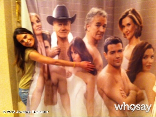 Jordana Brewster enjoyed her new Dallas shower curtain. Source: WhoSay user Jordana Brewster