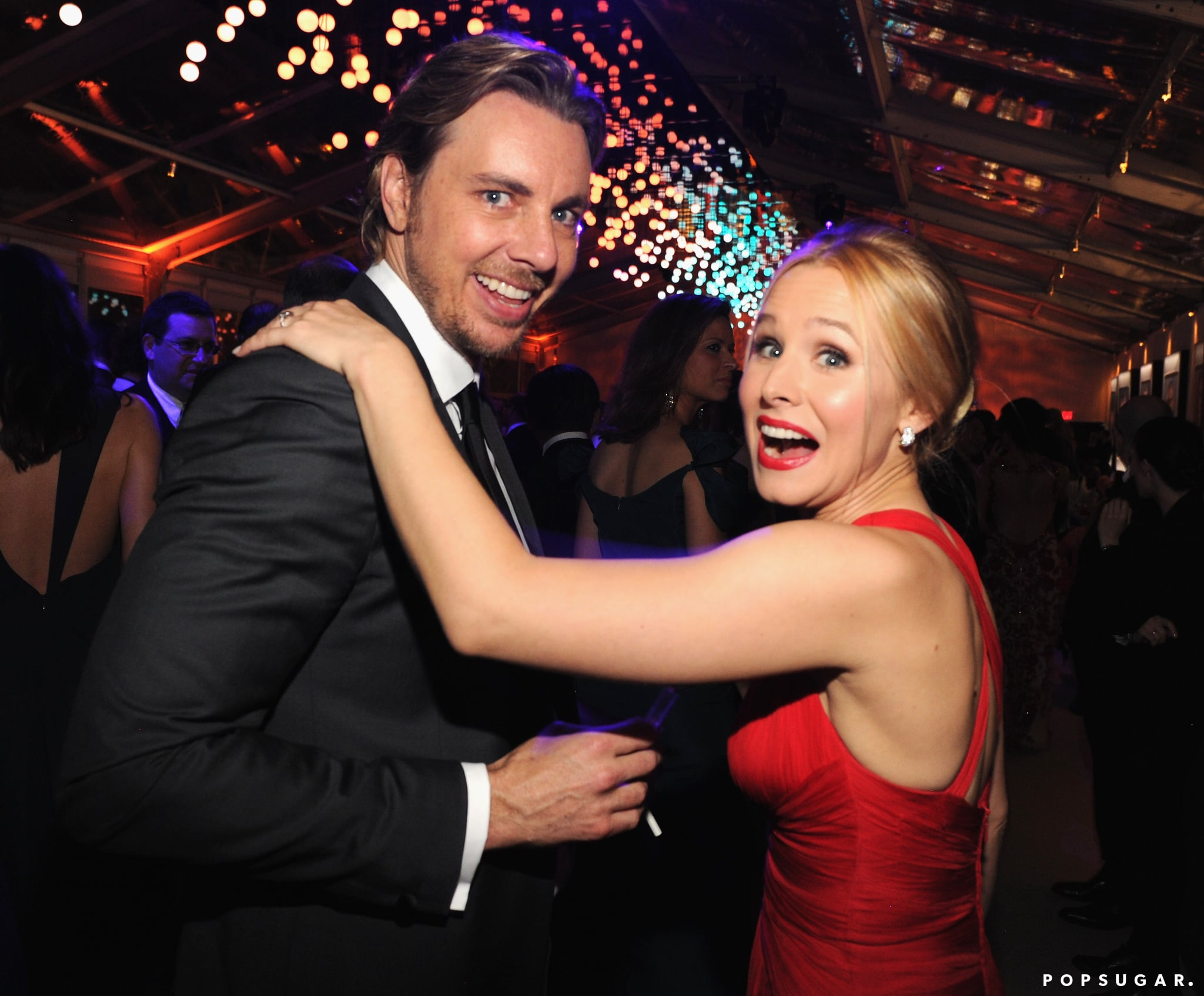 Kristen Bell and Dax Shepard shared a funny moment during the party.