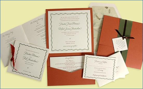 Lovely Letterpress Invitations