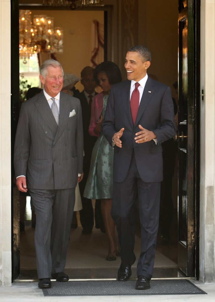 Barack Obama laughed alongside Prince Charles during a May 2011 trip to London.