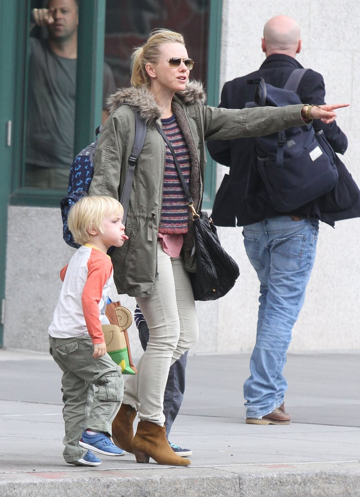 Naomi Watts pointed out something interesting to her boys.