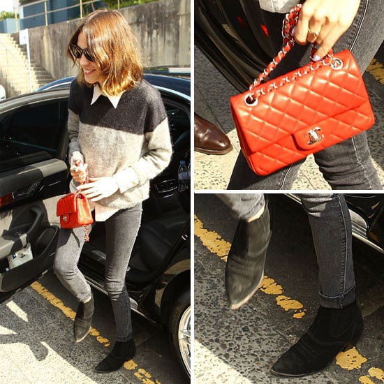 Alexa Chung Carrying a Chanel Bag August 30, 2011