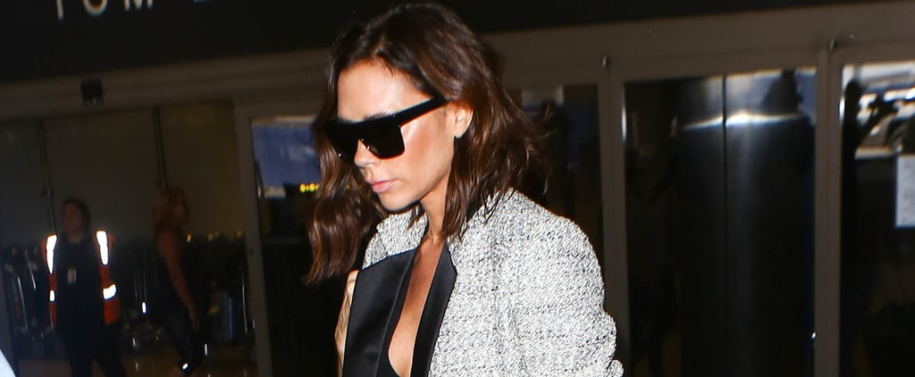 Victoria Beckham Flew to LA Wearing the Chicest Power Suit We've Ever Seen