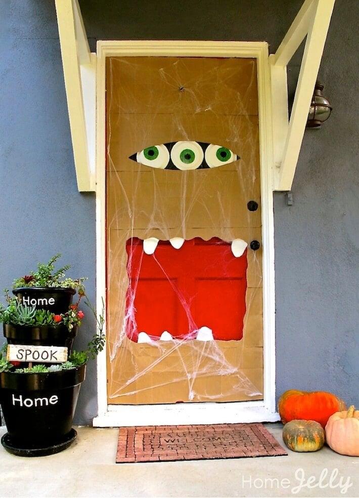 How To Decorate Front Door For Halloween Popsugar Home