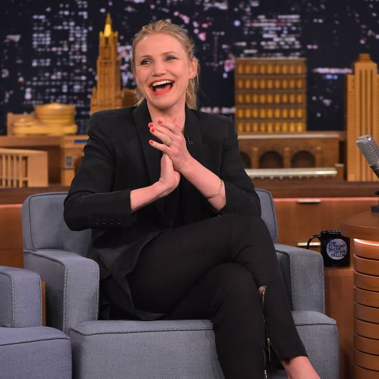 Cameron Diaz's Suit on Tonight Show Starring Jimmy Fallon